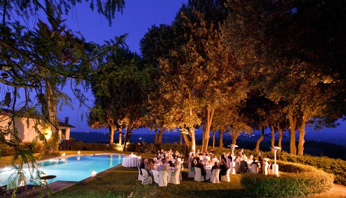 Wedding Photograph - Dinner next to the Swimming Pool, Italy