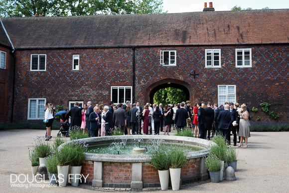 wedding photograph of guests at fulham palace