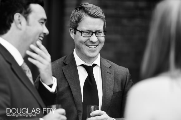 Guests during wedding reception at Fulham Palace