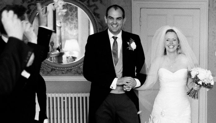 Wedding Photograph of Bride, Groom at Wyck Hill House