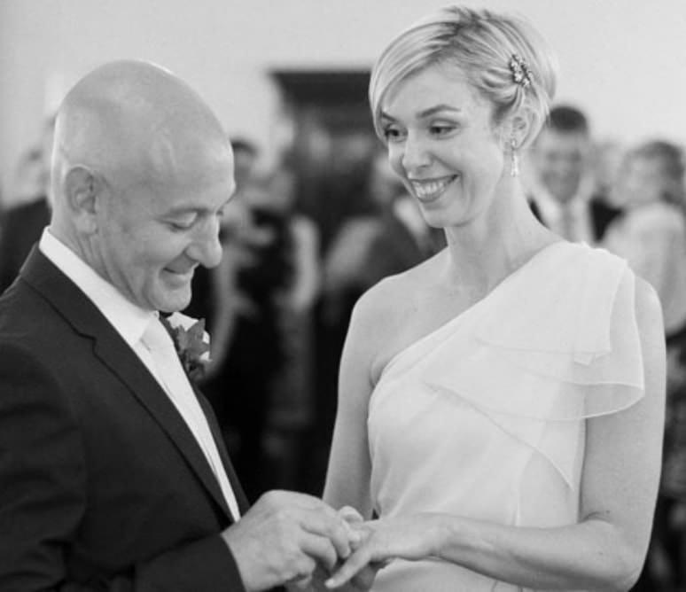 wedding photograph of couple during wedding ceremony