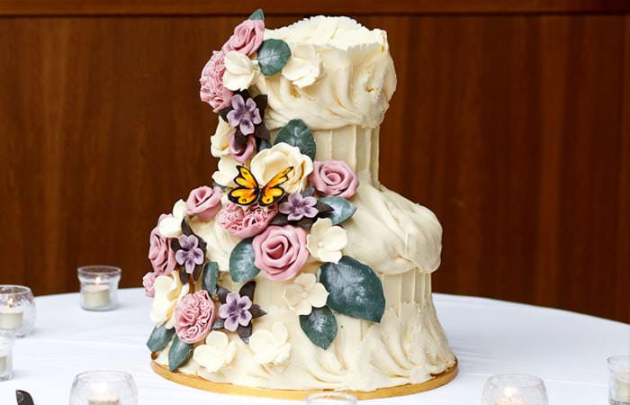 Wedding Cake - Photographed by Douglas Fry at the Bluebird Restaurant, London