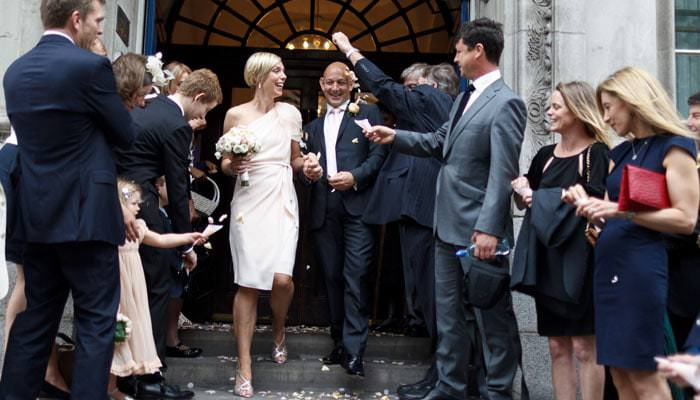 Wedding Photograph Steps Chelsea Town Hall