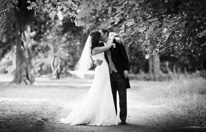 Wedding Photograph of Bride and Groom at Fulham Palace