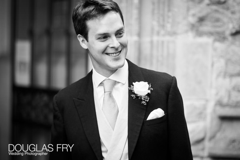 Groom at fulham palace wedding