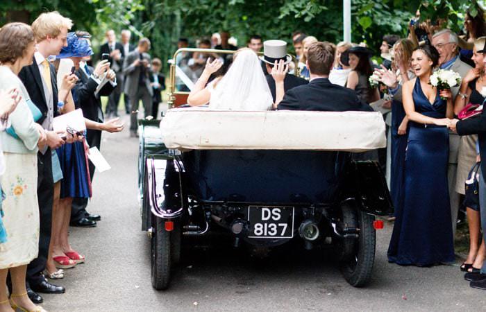 Wedding Photography of bridal car at Fulham Palace, London