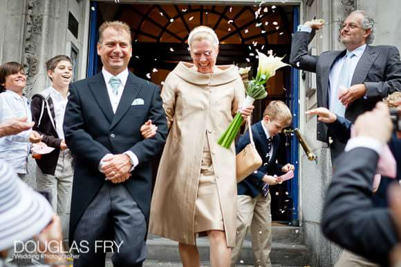 steps of chelsea town hall wedding photograph