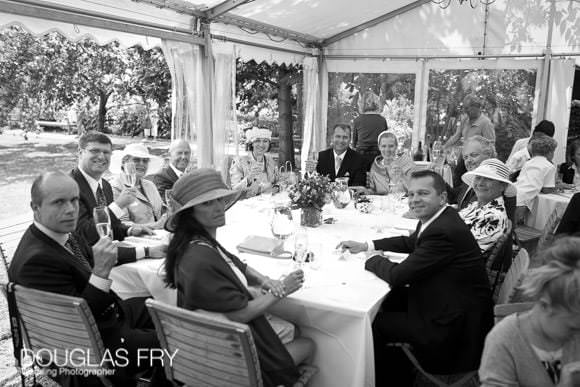 Wedding reception at Chelsea Physic Garden in Marquee