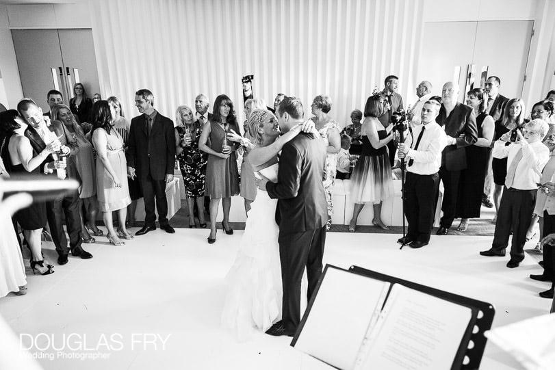 couple dancing at wedding at coworth park