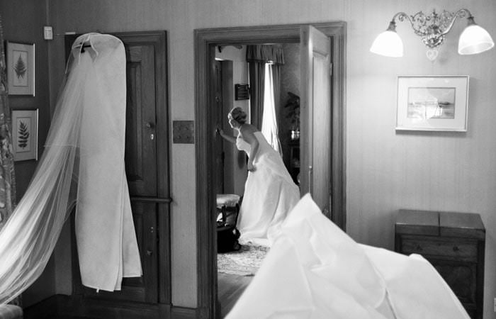 Wedding Photograph of Bride at Madingley Hall, Cambridge