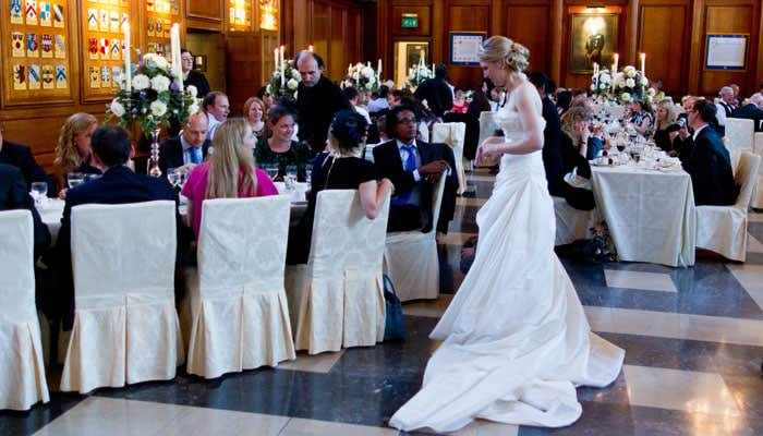 Wedding Photograph of bride at Inner Temple in London