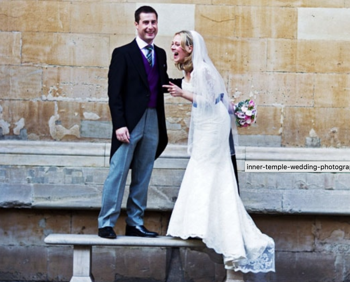Inner Temple photograph of couple laughing