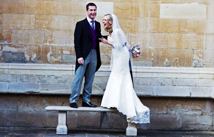 Bride and Groom - Wedding Photograph at Inner Temple
