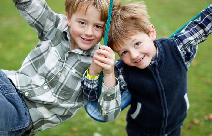 Photograph Brothers on Swing Gloucestershire