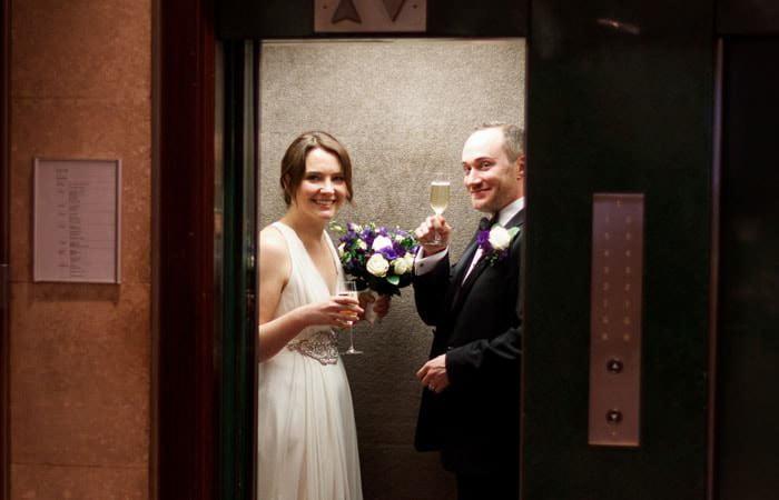Bride and Groom Photograph at RIBA, London