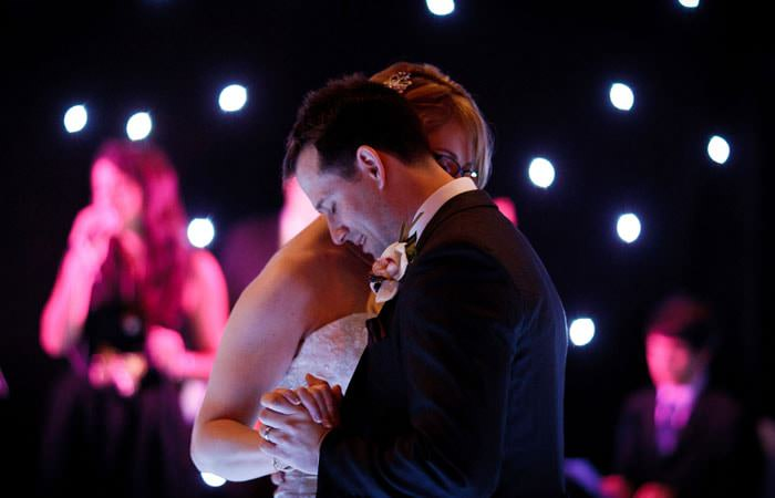 Bride and Groom Dancing  at Great Fosters