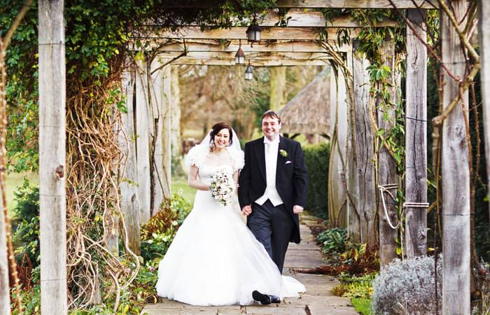 Wedding Photograph Bride and Groom at Great Fosters, Windsor