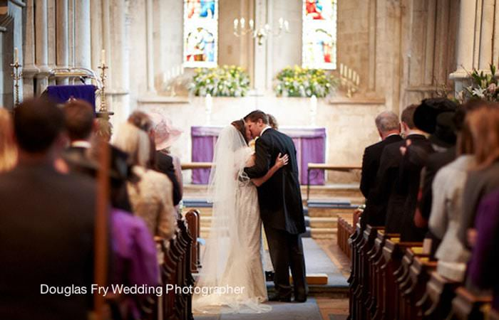 Wedding Photograph Surrey - Church, Crondall