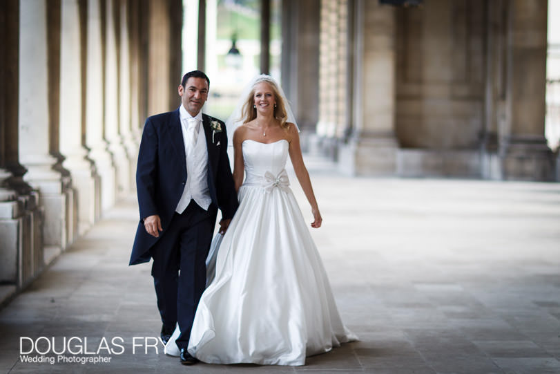 Wedding Photograph Speeches at The Painted Hall London, Greenwich - couple
