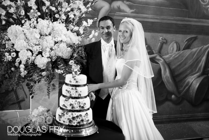 Wedding Photograph Speeches at The Painted Hall London, Greenwich cake