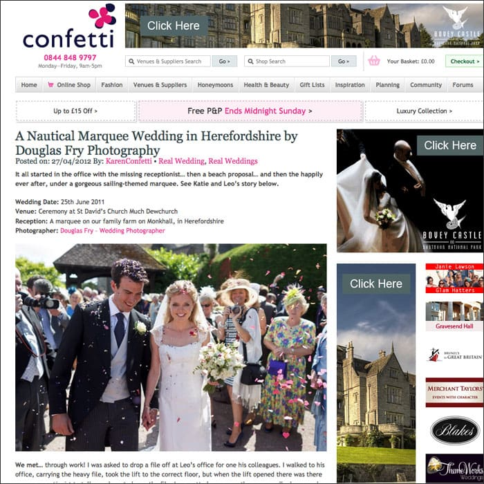 Real Life Wedding Douglas Fry on Confetti