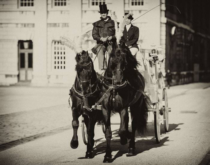 Horse and Carriage Wedding Photograph London