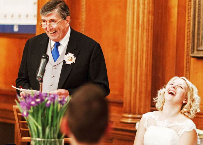Wedding Photographer Inner Temple - Father making a speech