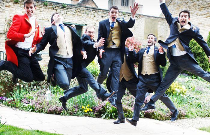 Photograph of Ushers Jumping