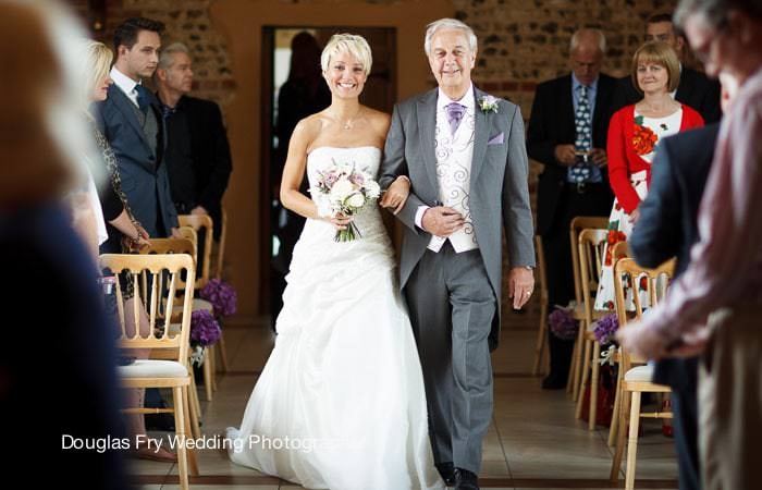 Photograph of bride and father in West Sussex