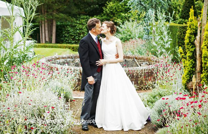 Bride and Groom Photographed in Gardens