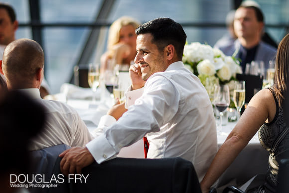 Guests during wedding reception