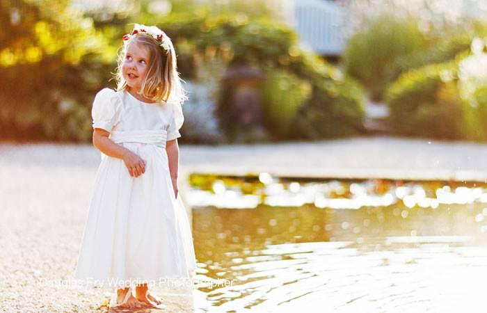 Wedding Photograph of Bridesmaid at Loseley Park, Surrey