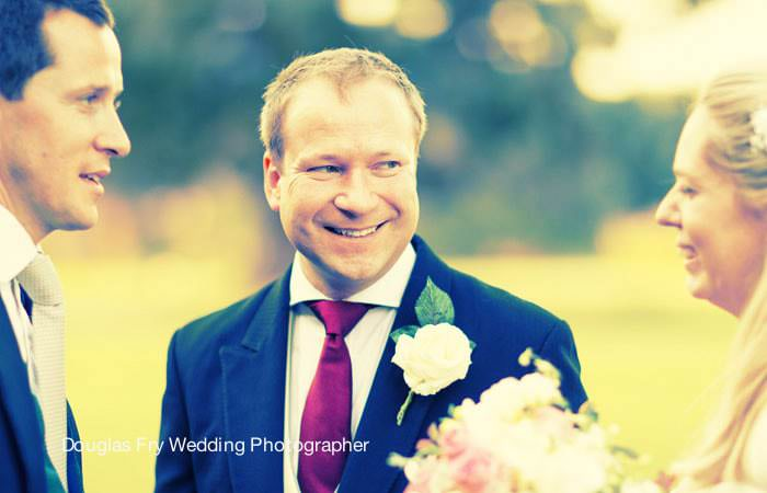 Wedding Photograph of Groom Loseley Park, Surrey
