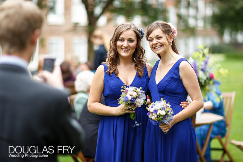 Guests photographed by wedding photographer in London at Grays Inn