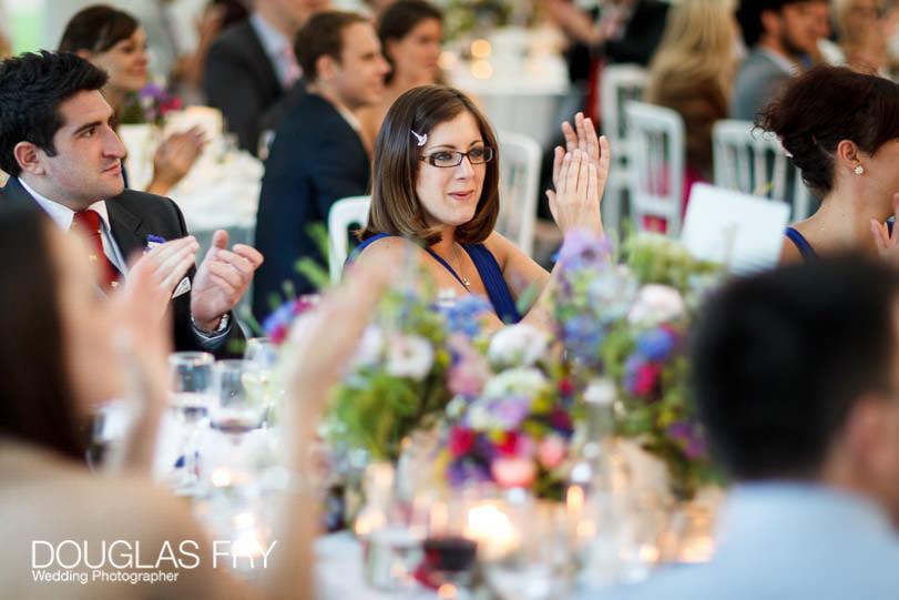 Guests at Gray's Inn London wedding