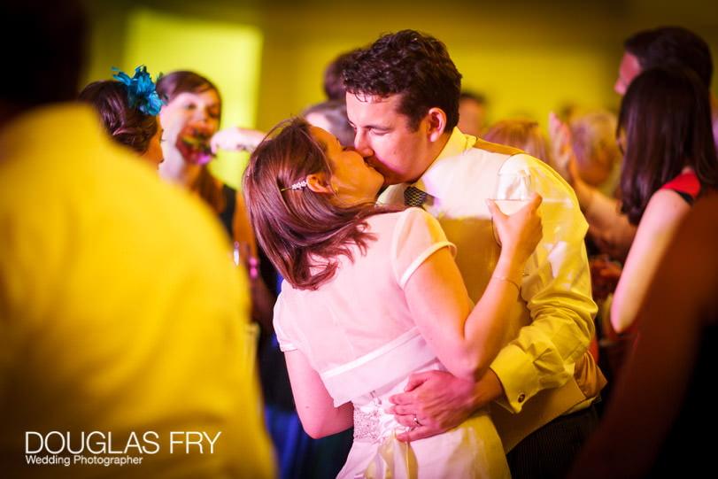 Bride and groom wedding photograph dancing at Gray's Inn