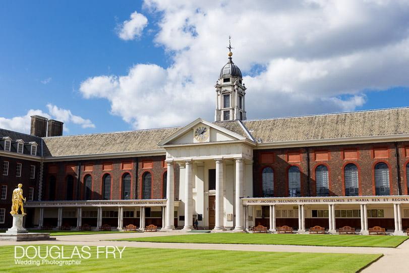 Wedding photograph of The Royal Hospital, Chelsea, London