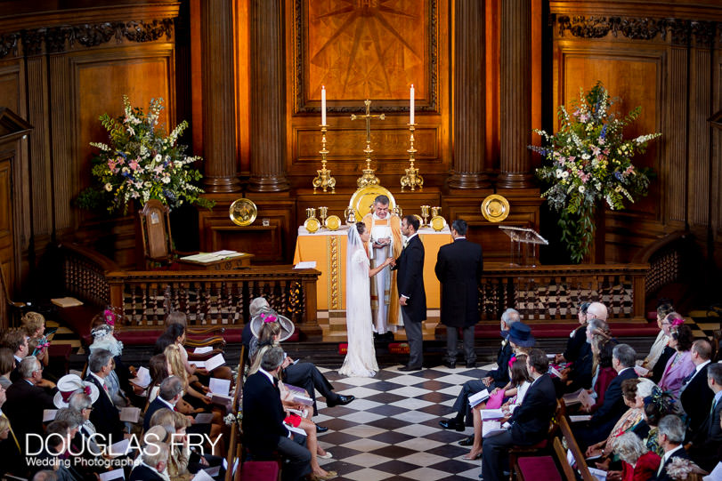 Wedding at the chapel in Royal Hospital Chelsea
