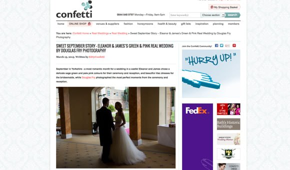 Real Wedding on Confetti Website