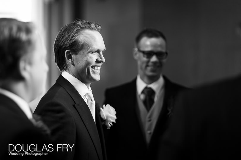 Wedding Photographer St Brides Church London - Groom