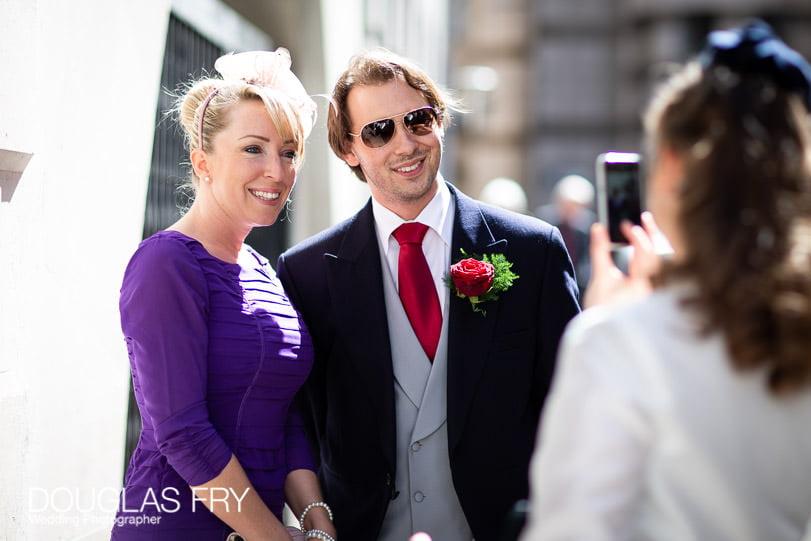 Wedding Photographer St Brides Church London - Guests
