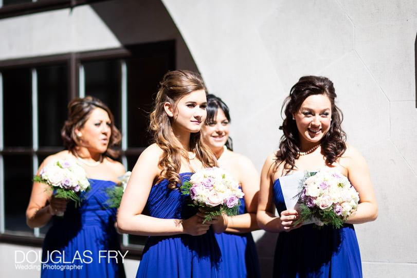 Wedding Photographer St Brides Church London - Bridesmaids