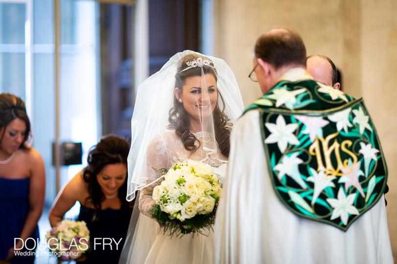 Wedding Photographer St Brides Church London - Bride