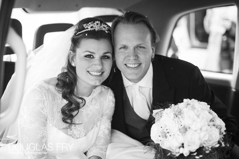 Wedding Photographer St Brides Church London - taxi