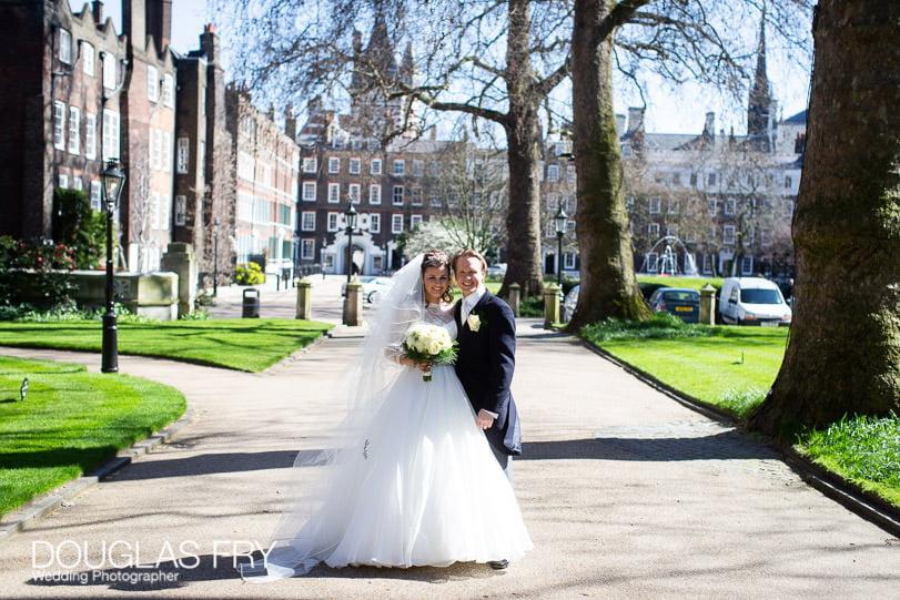 Wedding Photographer St Brides Church London - Lincolns Inn