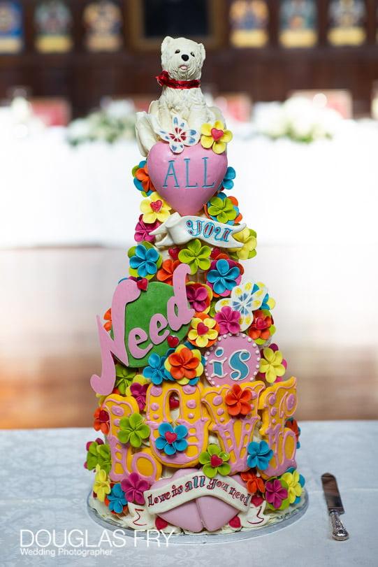 Wedding Photographer St Bride's Church London - cake