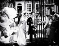 Gray's Inn wedding photograph of bride and groom with confetti