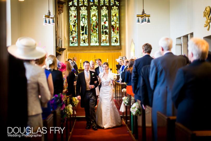 Bride and groom in church - Grays Inn London