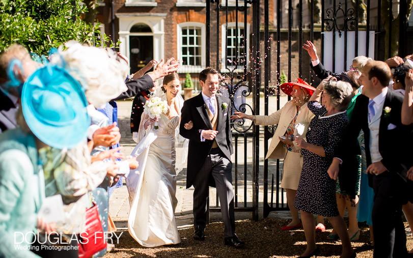 approaching Grays Inn Wedding photograph