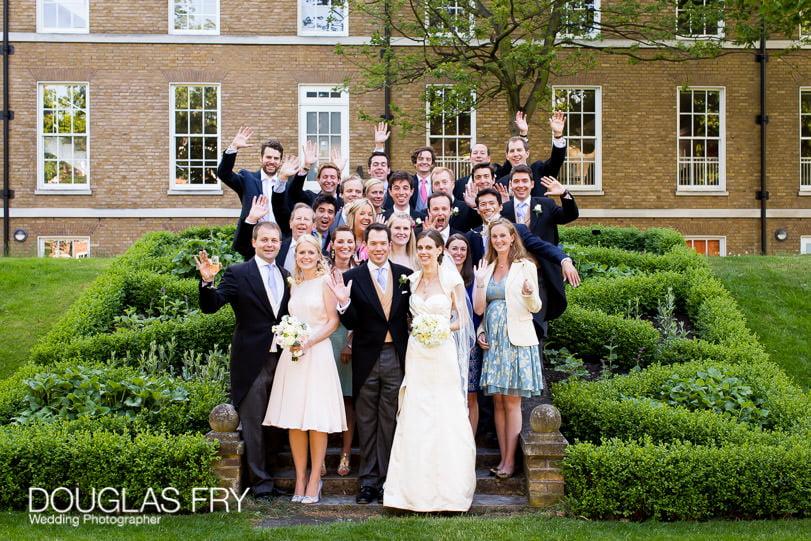 group formal photograph in Gray's Inn Gardens London